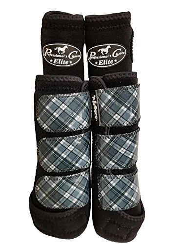 (Professional's Choice VenTECH Elite Value 4-Pack Exclusively for OSO1O Medium Plaid/Black)