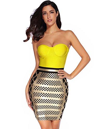 celeb yellow dress - 1