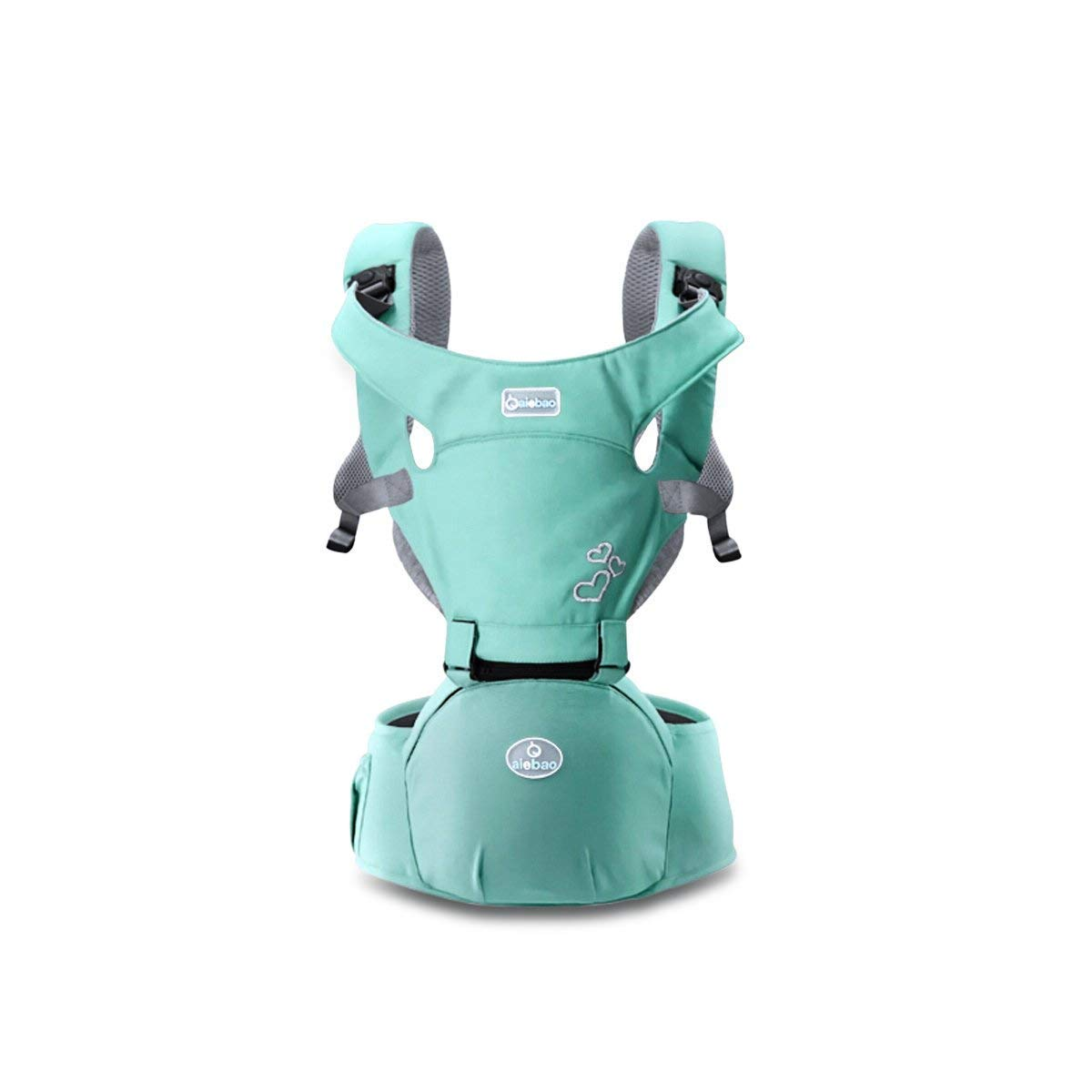 Dfrg Ergonómico Transpirable Infantil Portabebé,Multifunción Adjustable Portabebés,Lightgreen Multifunción Adjustable Portabebés dfgbd