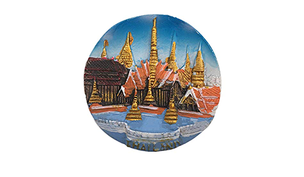 Weekinglo Souvenir Im/án de Nevera Bangkok Palacio Real de Tailandia Asia 3D Resina Artesan/ía Hecha A Mano Turista Recorrido de Recuerdos de la Ciudad Carta de Colecci/ón Refrigerador Etiqueta