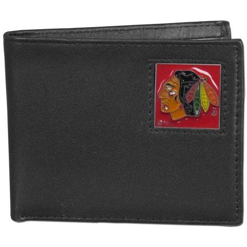 (NHL Chicago Blackhawks Genuine Leather Bi-fold Wallet)