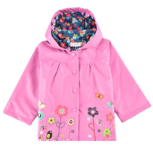 Girls Pink Embroidered Coat - 9