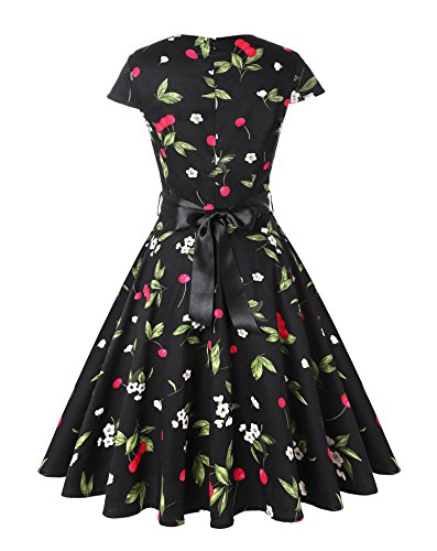 V Dresses ROOSEY Retro Party Women's Neck Sweetheart 1950s Vintage Pat5 Cocktail WXF1cXq