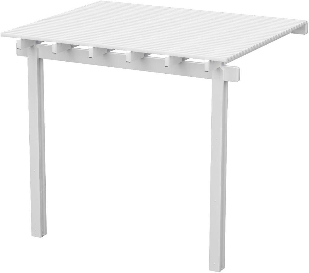 Patrimonio Patios aluminio pérgola – 8 pies x 12 pies. (blanco ...