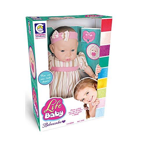 Life Baby Bebêzinho Cotiplás Rosa/Bege