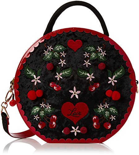 Irregular Choice Damen Cherry Love Bag Shopper, Schwarz (Black), 8x28x29 cm