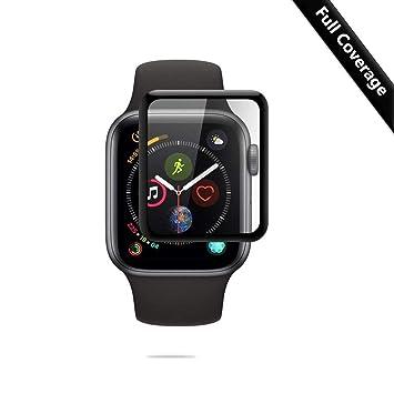 PaceBid Protector de Pantalla para Apple Watch Series 4 44MM, 3D Cobertura Completa, Dureza 9H, Alta Definición, Cristal Templado Apple Watch Series 4 44MM: ...