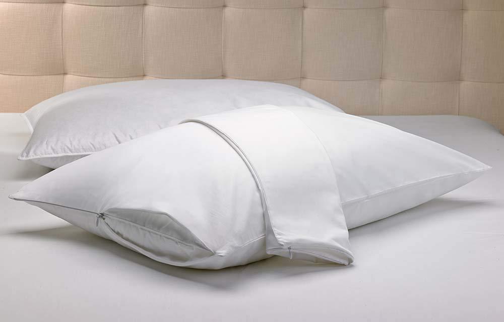 Lot de 2 MAS International Taie doreiller /à Fermeture /Éclair Standard 50 x 75 cm en Polycoton Blanc