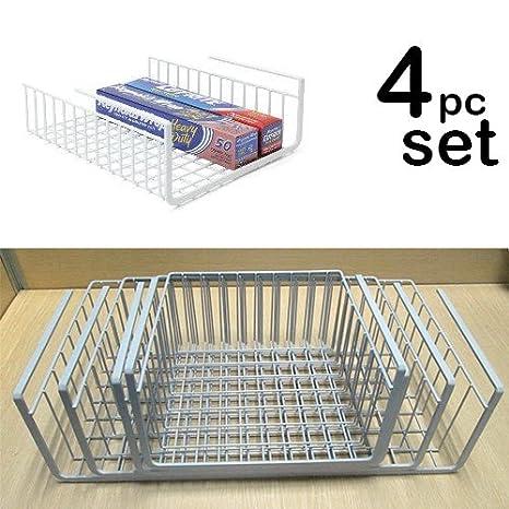 Beau Modern Home Set Of 4 Cabinet Wire Hanging Basket Shelves