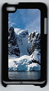 Antarctic Mountains 3 Polycarbonate Hard Case Cover for iPod 4 ¡§CBlack