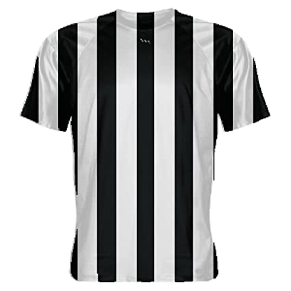 26331ea0a LightningWear Black and White Striped Soccer Jerseys - Referee Costume T- Shirt for Halloween 3X