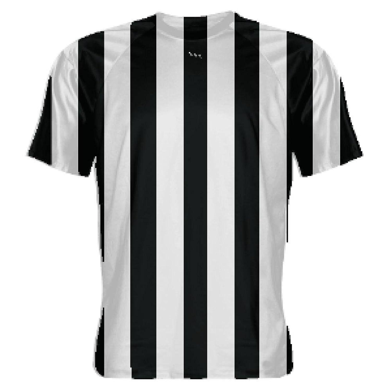 Amazon Lightningwear Black And White Striped Soccer Jerseys