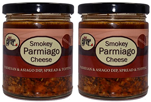 (Smokey Parmiago Cheese - Parmesan & Asiago Marinated Cheese Dip, Spread & Topping - 2 Pack by Just Enough)