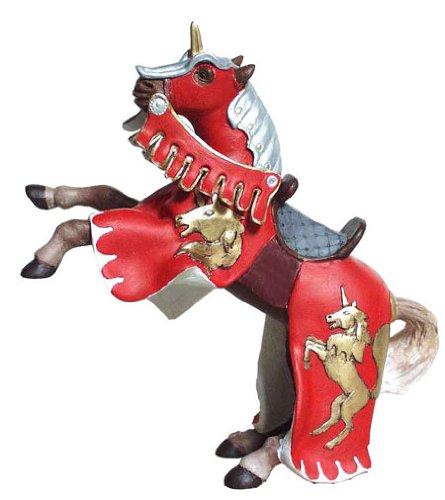 39248 PAPO Ritter rot Pferd mit Einhorn
