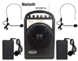 HISONIC HS122BT-LL Portable PA System with Dual Channel Wireless Microphones , Lithium