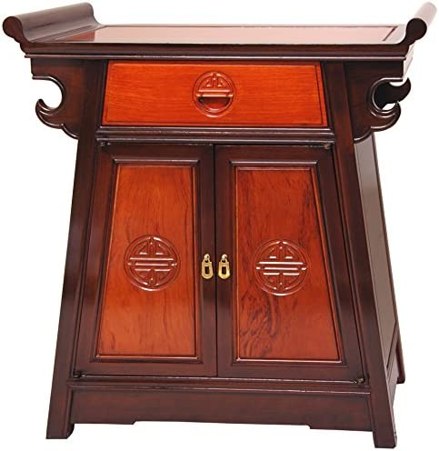 Oriental Furniture Rosewood Altar Cabinet – Two-tone