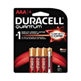 Duracell Quantum AAA Alkaline Battery, 4 count per pack -- 54 per case.