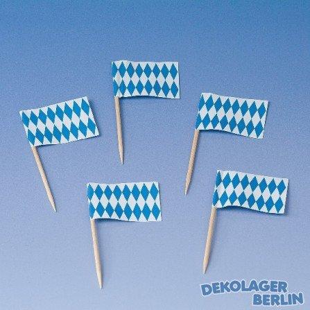 Kogler 07031 250 Pieces Bavaria Deco Picks in Showbox, Wood, Blue/White