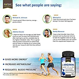 L-Arginine With Added Niacin And L-Citrulline - Most Potent Nitric Oxide (NO) Formulation Available on Amazon - 120 Vegetarian Capsules - For Muscle, Heart and Libido!