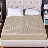 SL&CL Thickened quilted mattress,Single bed cover mattress cover all-inclusive dust cover detachable zipper bed cover-B 150x200cm(59x79inch)