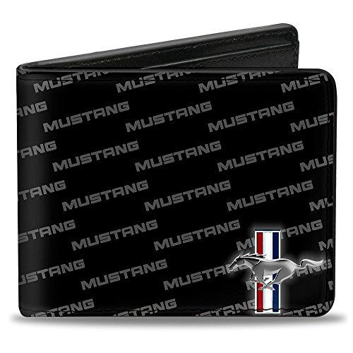 Bi-Fold Wallet - Ford Mustang w/Bars CORNER w/Text