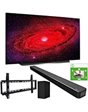 LG OLED65CXPUA 65-inch CX 4K Smart OLED TV with AI ThinQ (2020) Bundle SN6Y 3.1 Channel High Res Audio Sound Bar + TaskRabbit Installation Services + Vivitar Low Profile Flat TV Wall Mount