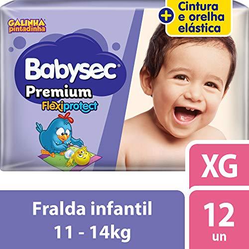 Fralda Babysec Galinha Pintadinha Premium Xg 12 Unids, Babysec, XG