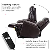 Power Lift Chair Electric Recliner PU Leather Lift Recliner Chair Heavy Duty Steel Reclining Mechanism