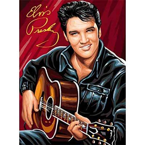 (LLWWRR1 Full Drill Square Elvis Presley Guitar Diamond Painting Kit - DIY Cross Stitch Rhinestone Mosaic, 50X70Cm)