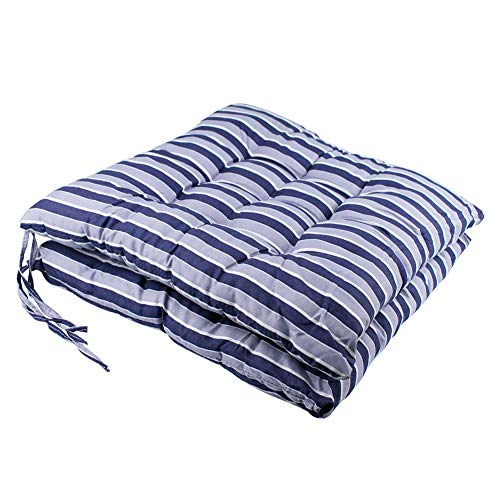youta Seat Patio Cushion Reversible Set of 2 Chair Cushions Furniture Garden Square Chair Pads for Home Office Outdoor Indoor 15x15 inch Purple Stripe