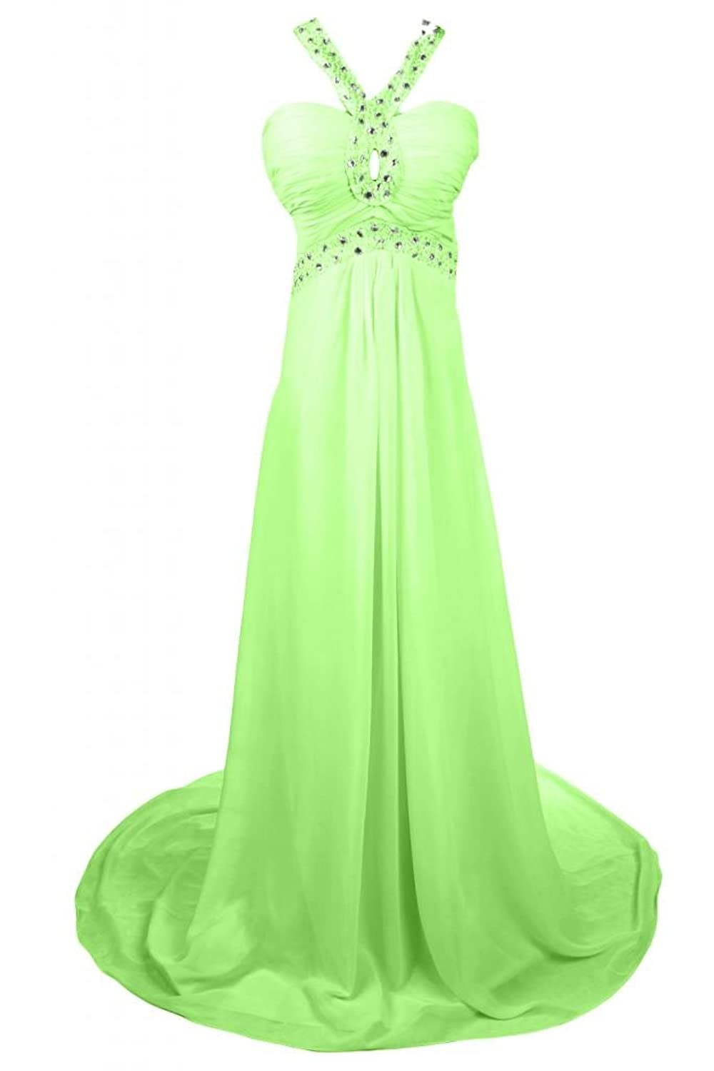 Sunvary Romantic Halter Neckline Pageant Dress Prom Gowns Long Evening Party Dresses