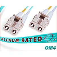 75M OM4 LC LC Fiber Patch Cable | Plenum 100Gb Duplex 50/125 LC to LC Multimode Jumper 75 Meter (246.06ft) | Length Options: 0.5M-300M | FiberCablesDirect - Made In USA | ofnp lc-lc lc/lc mm cord dx