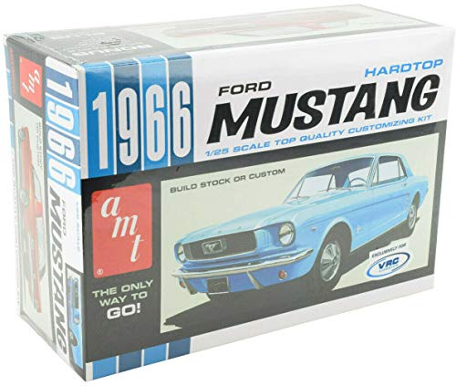 AMT/VRC Hobbies 1966 Ford Mustang Hardtop 1:25 Scale Plastic Model Car Kit 704]()