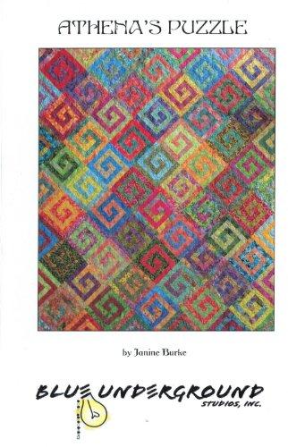 Puzzle Quilt Pattern (Athena's Puzzle Quilt Pattern by Blue Underground Fat Quarter and Batik Friendly 74