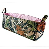 Camouflage Diaper Caddy with Pink Lining