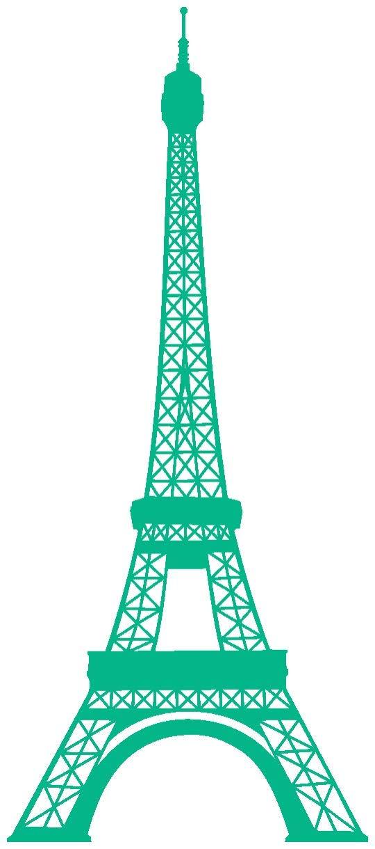 Samunshi® Wandtattoo Eiffelturm Paris Wandaufkleber in 13 13 13 Größen und 25 Farben (69x160cm Enzian) B00913GRUE Wandtattoos & Wandbilder b4d962