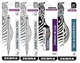 Zebra M-701 Mechanical Pencil, 0.7mm, 2 Pack With 1 Pack of Zebra Standard HB Lead Mechanical Pencil Refill, 0.7mm and 7-Count Zebra Pencil Eraser Refills