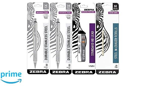 Zebra M Mechanical Technical Pencil Eraser Refills Non-Abrasive Eraser 7Count