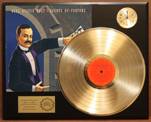blue-oyster-cult-agents-of-fortune-ltd-edition-24kt-gold-lp-record-clock-display-quality-collectible