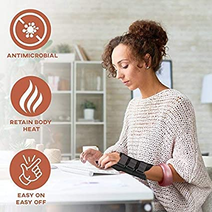 Left Hand Relieve and Heal Wrist Injury Pain with Advanced Copper Technology - Arthritis Copper Wrist Support Brace With Splints for Carpel Tunnel Tendonitios Pain