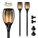 Solar torches Lights Outdoor, Landscape Lighting Waterproof LED Flickering Dancing Flames, solar powered for Outdoor Decorations Garden Patio Backyard Pathway Dusk to Dawn Auto On/Off Pack of 2 PCS