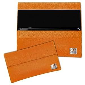 SIMON PIKE Cáscara Funda de móvil NewYork 1 naranja Blackberry Pearl 8120 Fieltro de lana