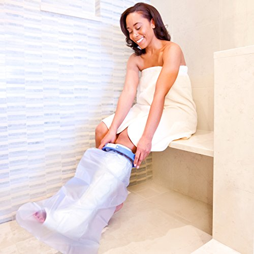 Seal Tight Original Cast and Bandage Protector, Best Watertight Protection, Adult Short Leg (Seal Tight Original Cast)