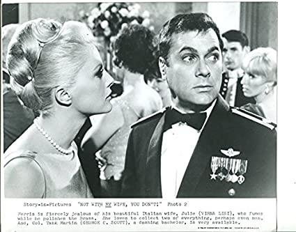 MOVIE PHOTO: NOT WITH MY WIFE, YOU DON'T-1966 8 X10 STILL-COMEDY-VERNA  LISI-TONY CURTIS-2 -vg at Amazon's Entertainment Collectibles Store