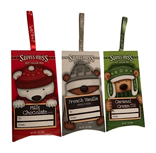 Swiss Miss Hot Cocoa Bundle of 3 Ornament Packets - Assorted Flavors: Milk Chocolate, French Vanilla, and Caramel Cream]()