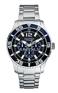 Nautica A15654G - Reloj de pulsera hombre, acero inoxidable, color plateado