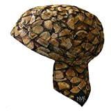 Doo Rag Skull Cap Cycling Headwrap Running Head Wrap Motorcycle Biker Cap Hat Helmet Liner Velcro Closure