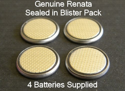 Four (4) X Renata Cr1225 Lithium Coin Cell Battery 3V Blister Packed Plus One Beaky Cell Free