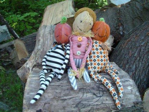 (Craft Pattern - Pumpkin-headed Jack and Scarecrow Joe - 14
