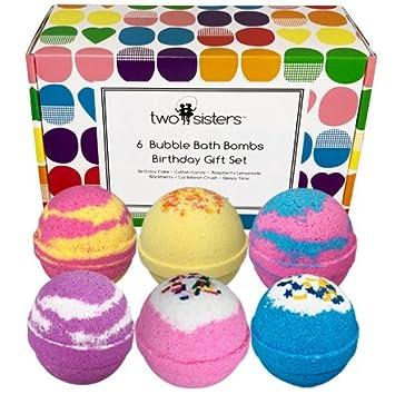 Amazon.com : 6 BUBBLE Bath Bombs - Birthday Gift Set - Large Lush ...